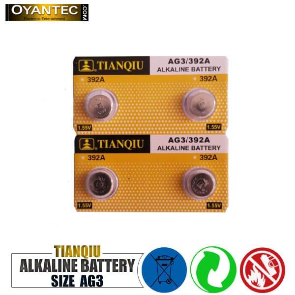 باتری سکه ای تیانکیو AG3-392A الکالاین 10 عددی