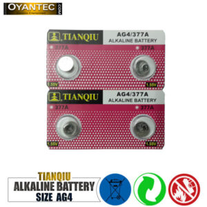 باتری سکه ای تیانکیو AG4-377A الکالاین 10 عددی