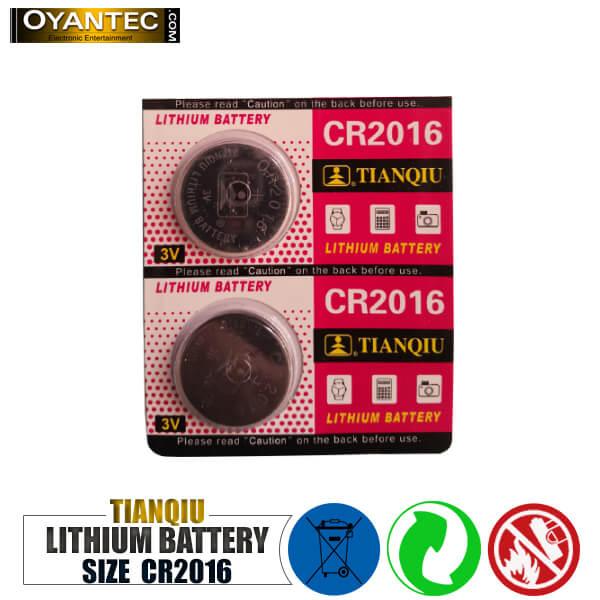 باتری سکه ای تیانکیو CR2016 لیتیوم 5 عددی
