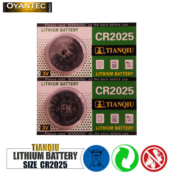 باتری سکه ای تیانکیو CR2025 لیتیوم 5 عددی