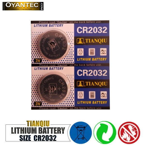 باتری سکه ای تیانکیو CR2032 لیتیوم 5 عددی