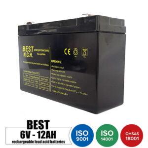 باتری شارژی 6 ولت 12 آمپر BEST مدل 3FM12