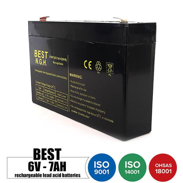 باتری قابل شارژ 6 ولت 7 آمپر BEST
