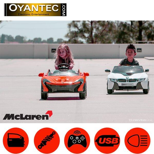 ماشین شارژی مک لارن رنگ قرمز