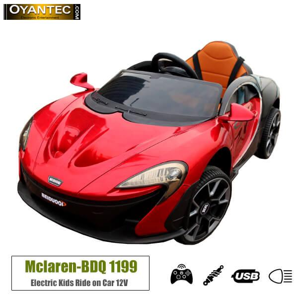 ماشین شارژی مک لارن BDQ 1199 رنگ قرمز متالیک