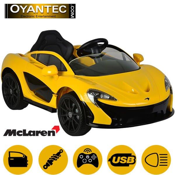 ماشین شارژی مک لارن P1 رنگ زرد