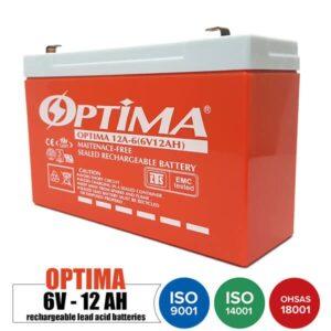 باتری شارژی 6 ولت 12 آمپر OPTIMA مدل 12A-6