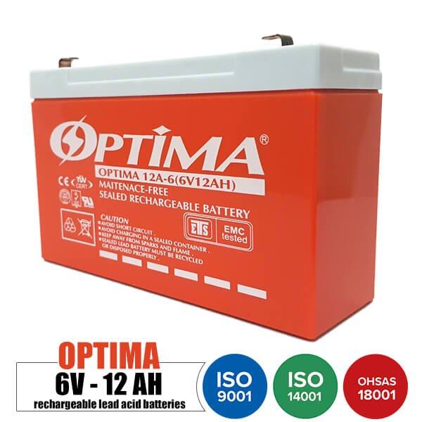 باتری قابل شارژ 6 ولت 12 آمپر OPTIMA مدل 12A-6