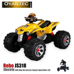 موتور شارژی چهار چرخ Rebo رنگ زرد